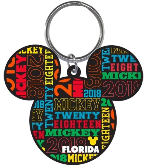 Picture of Disney 2018 Mickey Icon Multicolored Laser Keychain Keyring