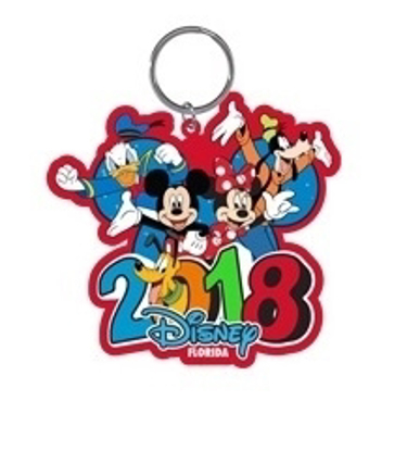 Picture of Disney 2018 Burst Four Mickey Minnie Donald Goofy Pluto Laser Keychain