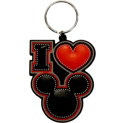 Picture of Disney I LOVE MICKEY MOUSE Keychain Keyring