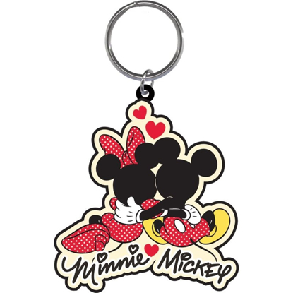 Picture of Disney mickey mouse minnie cuddle lasercut key chain ring keychain Brand New