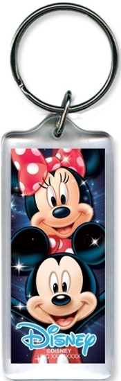Picture of Disney Mickey mouse Minnie Heads lucite Plastic Keychain