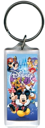 Picture of Disney Spectacular Cast Mickey Minnie Donald Snow White Lucite Keychain