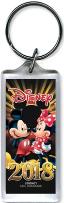 Picture of Disney character Mickey Minnie 2018 Lucite Rectangle Keychain