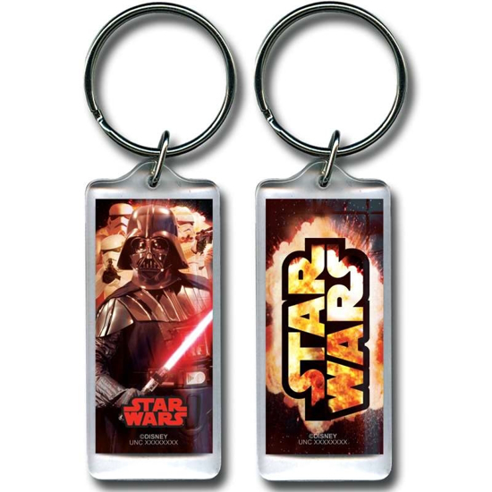 Picture of Disney Star Wars Explosion Darth Vader Lucite Keychain Keyring