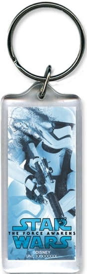 Picture of Disney Star Wars Storm Trooper Collage Lucite Keychain Keyring