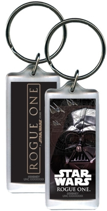 Picture of Disney Star Wars Darth Vader Head Rogue One Lucite Keychain Keyring