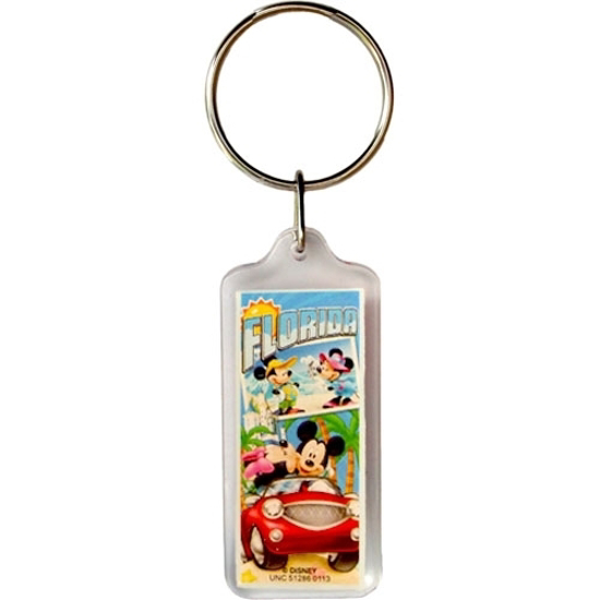 Picture of Disney Mickey and Minnie Mouse Postcard Keychain (Florida Namedrop)