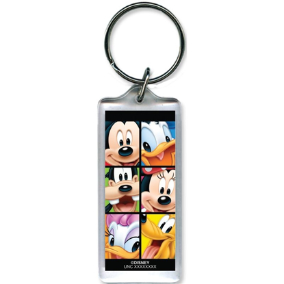 Picture of Disney Mickeys Group Minnie Donald Goofy Pluto Daisy- Lucite Keychain