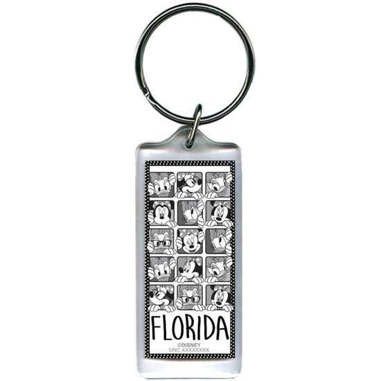 Picture of Disney Minnie Daisy Dots Lucite Keychain (Florida namedrop)