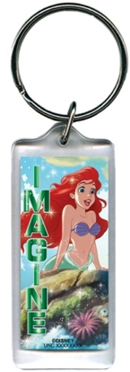 Picture of Disney Little Mermaid Ariel Imagine Lucite Rectangle Keychain