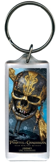 Picture of Disney Skull and Bones Pirates Lucite Rectangle Keychain