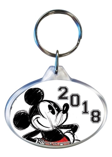 Picture of Disney 2018 Big Mickey Lucite Oval Keychain