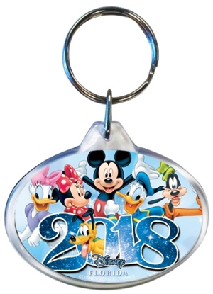 Picture of Disney 2018 Sixers Mickey Minnie Daisy Pluto Donald Goofy Keychain