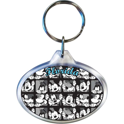 Picture of Disney Mickey Goofy Squares Oval Keychain