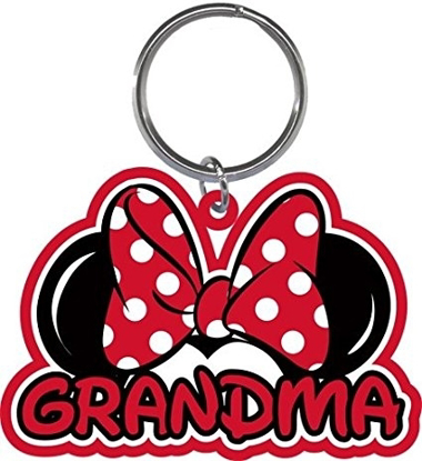 Picture of Disney Grandma Fan Red Keychain Keyring Lasercut