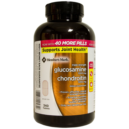 Picture of Member's Mark Triple Strength Glucosamine Chondroitin 340 ct
