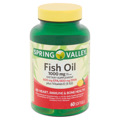 Picture of Spring Valley Fish Oil Softgels, 1000 mg, 60 count