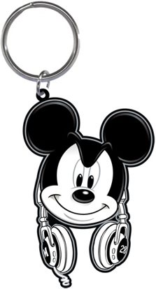 Picture of Disney Mickey Mouse Headphones Lasercut Keychain Keyring