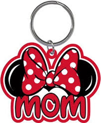 Picture of Disney Mom Bow Minnie Mouse Ears Fan Lasercut Laser Keychain Keyring