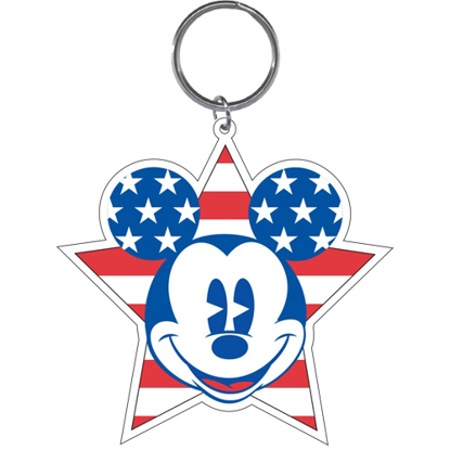 Picture of Disney American Mickey Mouse Stars Stripes Lasercut Keychain Keyring