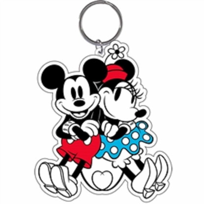 Picture of Disney Keychain Mickey Minnie Love Tail Lasercut Keychain Original