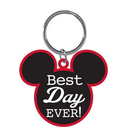 Picture of Disney Best Day EVER Mickey Mouse Head Lasercut Keychain Keyring