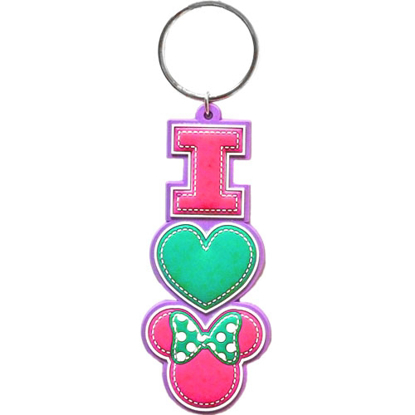 Picture of I Heart Minnie Mouse Stack Lasercut Keychain Disney