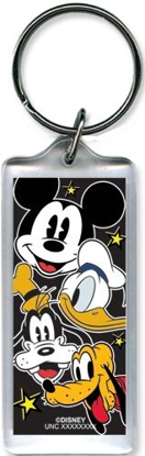 Picture of Disney Heads Up Mickey Mouse Donald Goofy Pluto Lucite Keychain Keyring