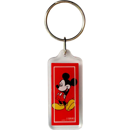 Picture of Disney Classic Mickey Mouse Red Lucite Keychain Keyring