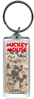 Picture of Disney Sketchie Mickey Vintage Lucite Keychain