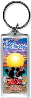 Picture of Mickey Minnie Disney Sunset Lucite Keychain, Florida Namedrop