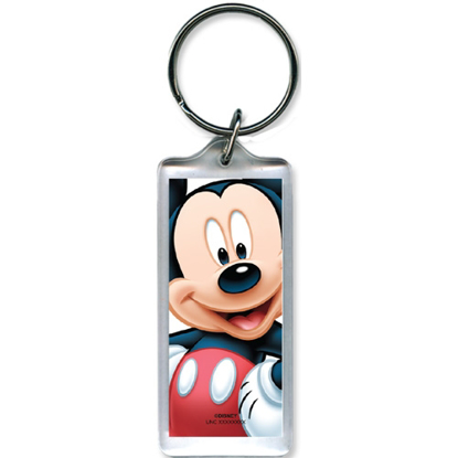 Picture of Disney Full on Mickey Mouse Lucite Keychain