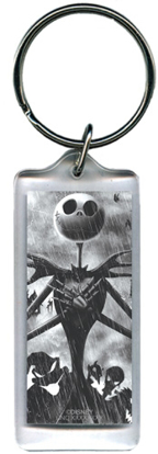 Picture of Jacks Back Nightmare Before Christmas, Lucite Rectangle Keychain