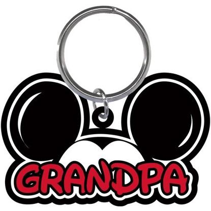 Picture of Disney Grandpa Fan Mickey Mouse Ears Lasercut Laser Keychain Keyring