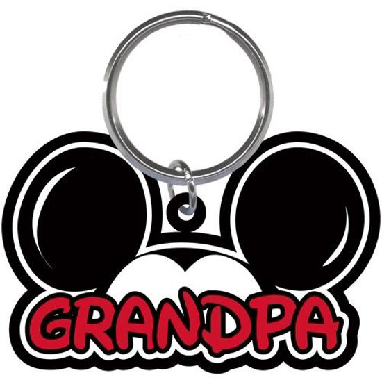 Picture of Disney Grandpa Fan Mickey Mouse Ears Lasercut Laser Keychain Keyring
