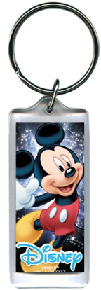 Picture of Space Magic Mickey Mouse, Lucite Rectangle Keychain