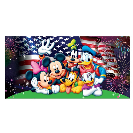 Spectacular Disney Group Beach Bath Towel 28X58