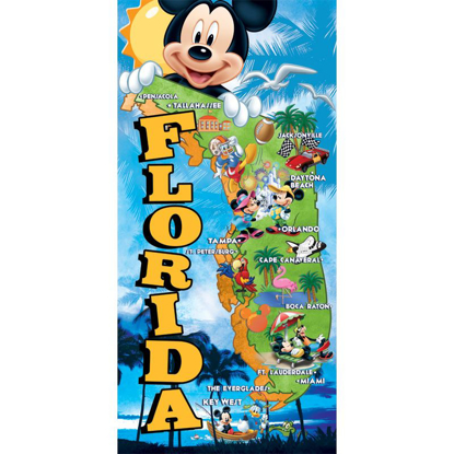 Picture of Disney Florida Map Beach Towel (Florida Namedrop)