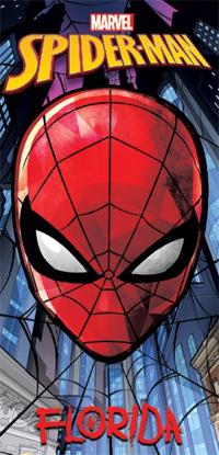 Picture of Disney Web City Spiderman Face Beach Towel (Florida Namedrop)