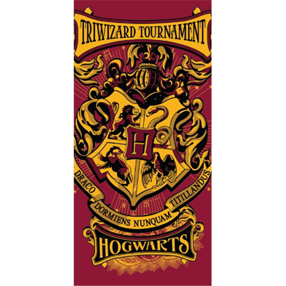 Picture of Disney Harry Potter Hogwarts Crest Triwizard Tournament, 28x58 Beach Towel (No Namedrop)
