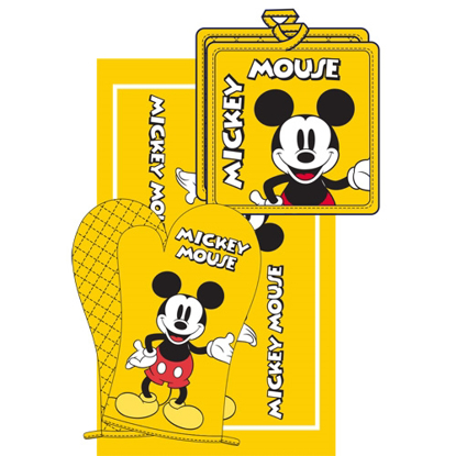 Picture of Disney 3pc Kitchen Towel Set Mickey Mouse Yellow