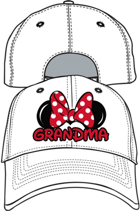 Picture of Disney Adult Hat Grandma Fan White