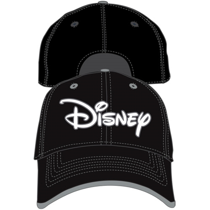 Picture of Disney Adult Original Disney Script Baseball Hat, Black