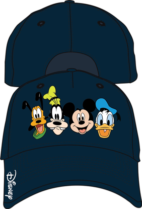 Picture of Disney Adult Crazy 4 Mickey Goofy Donald Pluto Baseball Hat, Multi