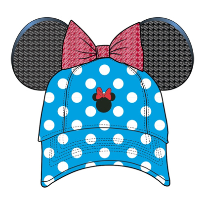 Picture of Disney Adult Vintage Minnie Polka Dots Ear Hat Blue Red hat