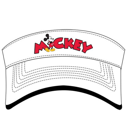 Picture of Disney Adult Mickey Name Standing White Visor