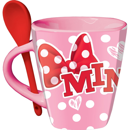 Picture of Disney Cup O Sass Minnie Mouse Mug with Spoon Pink mag