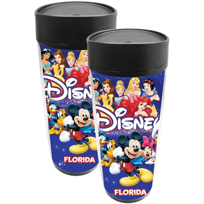 Picture of Disney Americana Character Mickey Group Travel Mug (Florida Namedrop)