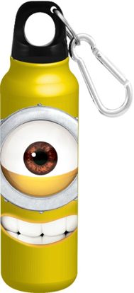 Picture of Disney Just Smile Big Face Minion Aluminum Bottle Wide Mouth Yellow bottle