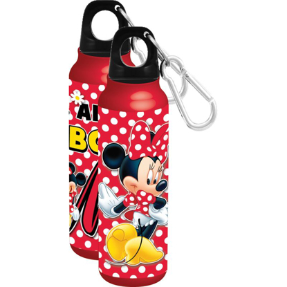 Picture of Disney Minnie Mouse All About Me Aluminum  Wide Mouth Red Water Bottle